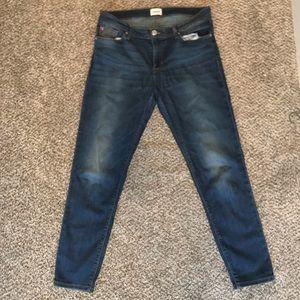 Hudson Krista Skinny Crop Dark Blue Wash Jeans